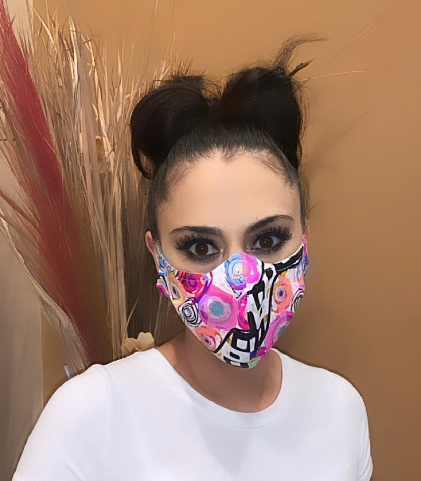 Face Mask Abstract Floral Print