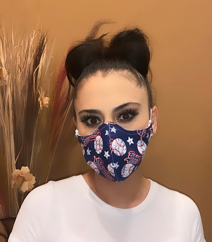 Face Mask Baseball Print