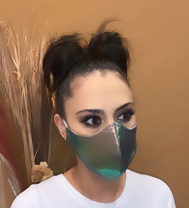 Face Mask Chrome Print