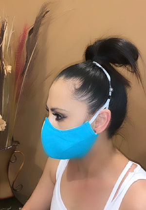 Face Mask Teal Blue