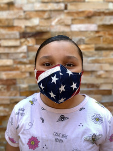 Face Mask America Flag Print