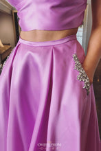 Two Piece Prom Dress Spaghetti Straps with Beading Pockets OP636