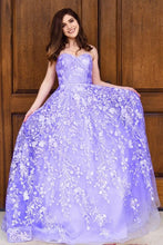 Sweetheart Tulle Long Prom Dresses, Appliques Long Formal Gown PO053