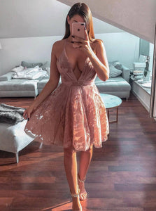 Sexy Short Homecoming Dresses Backless Cocktail Party Dress OM500