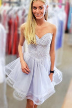 Sweetheart Lavender Short Prom Dresses Homecoming Gown OM524