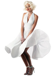 Classic Monroe White Halter V-neck Short Homecoming Dresses Simple Short Party Dress OM550
