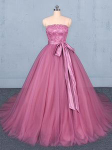 Sweet Strapless Quinceanera Dresses Ball Gown Wedding Dress PO051