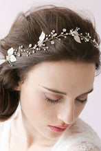 Delicate Silver Blade Crystals Wedding Headpiece WH01