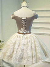 Off-the-Shoulder Lace Appliques Sweet 16 Dress, Short Ball Gown Party Dress, OP232