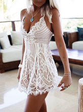 Sexy Spaghetti Straps Short/Mini Lace Cocktail Party Dress, OM110