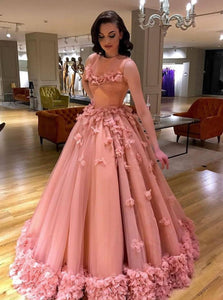 Ball Gown Long Prom Dress, Quinceanera Dresses, Sweet 16 Dresses PO259