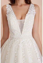 Elegant A Line Tulle Sleeveless Wedding Dress Lace Appliques Prom Gown W715