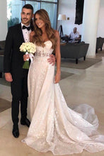 A-Line Sweetheart See-Through Wedding Dress with Appliques OW406