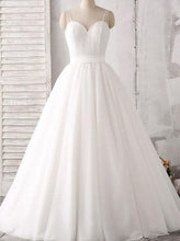 A-line Sweetheart Floor-Length Wedding Dress with Spaghetti Straps OW388