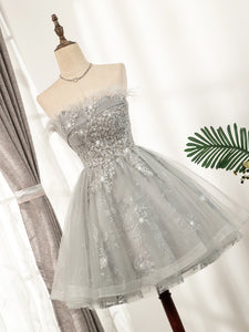 Cute Strapless Short Lace Up Beading Homecoming Dresses Sweet 16 Dress M0927