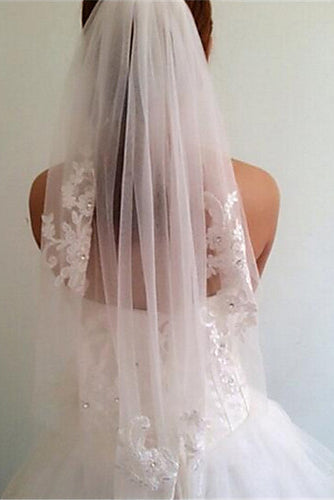 Modern One-tier Wedding Veil Simple Bridal Elbow Veils OV13