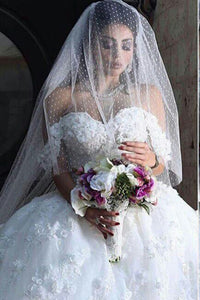 One-Tier Bridal Veils With Polka Dots Wedding Veils OV15