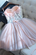 Pink Mini Sweet 16 Dress Cute Sequins Short Prom Graduation Gown OM133