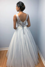 Princess Tulle Wedding Dress with Lace Appliques Lace-Up Bridal Gown OW380