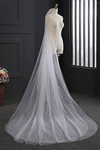 Simple Wedding Veil Two-tier Chapel Wedding Veils OV12