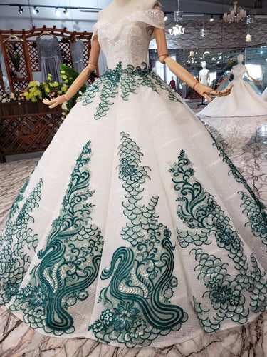 Sparkly Off The Shoulder Quinceanera Gown Beads Sequins Appliques Prom Dress OP643