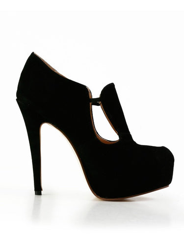 Suede Closed Toe Platform Stiletto Heel High Heels OS108