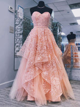 Sweetheart Neck Tulle Long Prom Dress, Princess Sweet 16 Dress OP651