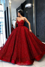 Sweetheart Red Military Ball Prom Dress Sparkly Quinceanera Dress OP640