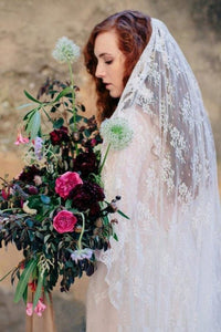 Two-tier Wedding Veils Lace With Applique Bridal Veils OV16