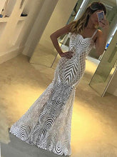Unique Straps Mermaid/Trumpet Style Prom Dress Lace Party Dress OP381