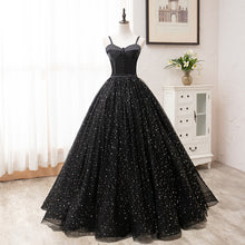 Vintage Ball Gown Lace up Black Princess Prom Dresses Dresses OD911