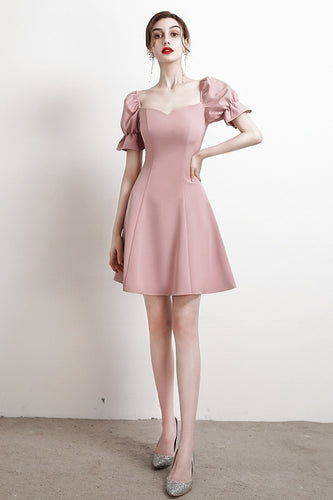 Soft Vintage Short Homecoming Dresses Simple Style Party Dresses OMB25
