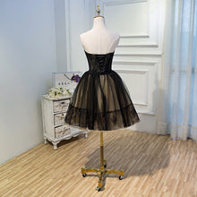 Black Lace Tulle Simple Homecoming Dresses Pretty Short Party Dresses OM916
