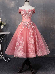 Off-Shoulder Short Prom Dresses Ball Gown Sweet 16 Gown OM217