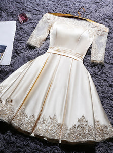 Off Shoulder Short Prom Dresses Homecoming Dress With Sleeve OM541