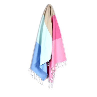 Cerec Baby Blue Dream Pink Turkish Towel