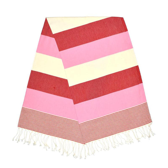 American Berry Red Dream Pink Turkish Towel
