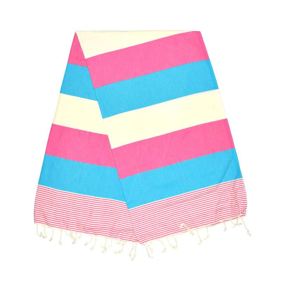 American Bubblegum Pink Night Brown Turkish Towel