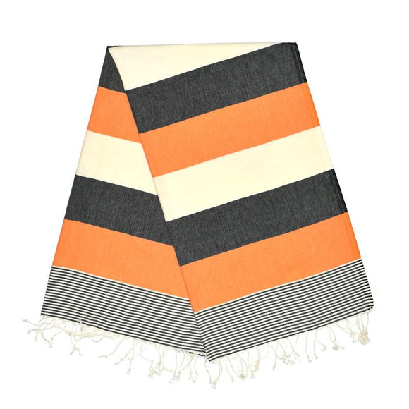 American Night Black Carrot Orange Turkish Towel