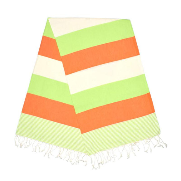 American Pistachio Green Carrot Orange Turkish Towel