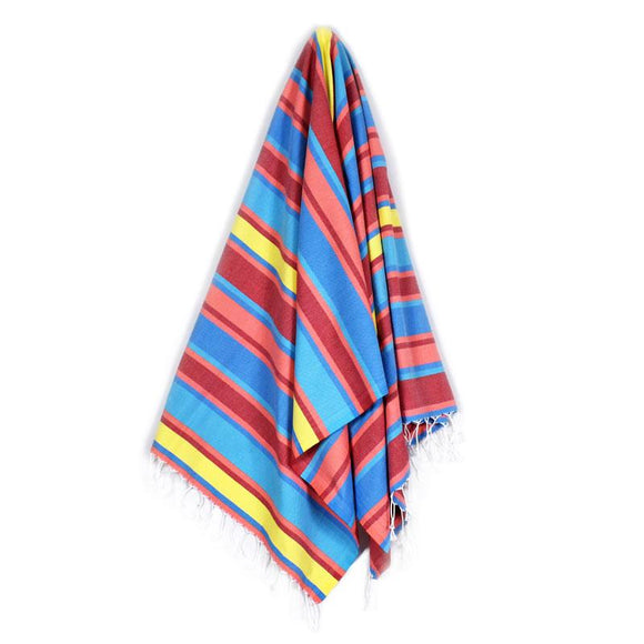 The Original Turkish Towels - Arco Iris Mango Orange Turquiose Blue Turkish Towel