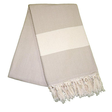 Balik Sirti Almond Brown Turkish Towel