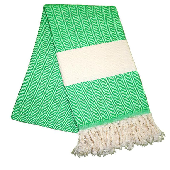 balik-sirti-benneton-green-turkish-towel
