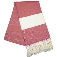 Load image into Gallery viewer, Balik Sirti Berry Red Turkish Towel