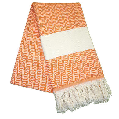 Balik Sirti Carrot Orange Turkish Towel