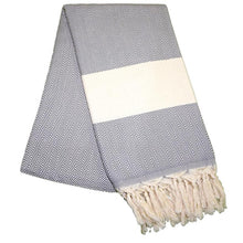 Load image into Gallery viewer, Balik Sirti Pebble Grey Turkish Towel