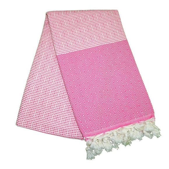 Cizgili Elmas Dream Pink Turkish Towel