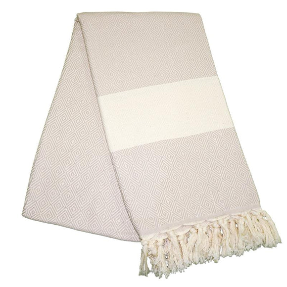 Elmas Almond Brown Turkish Towel