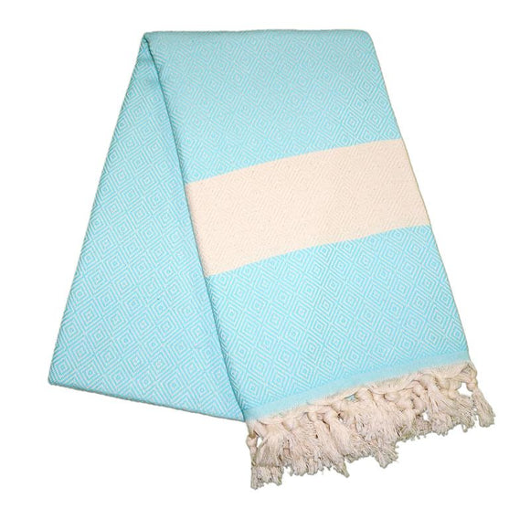 Elmas Aqua Blue Turkish Towel