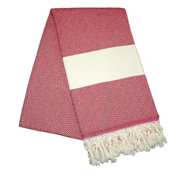 Elmas Berry Red Turkish Towel